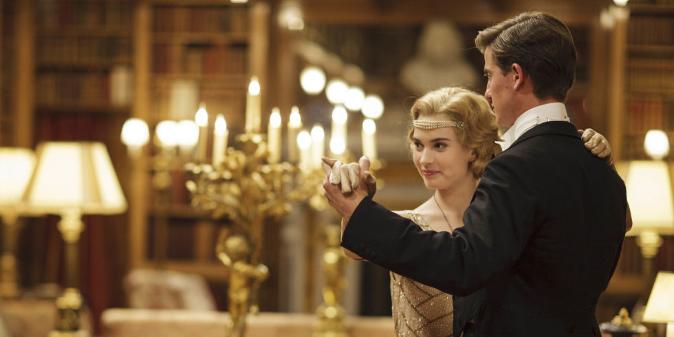 lily james as lady rose matt barber as atticus in downton abbey christmas special - Downton Abbey Christmas Special