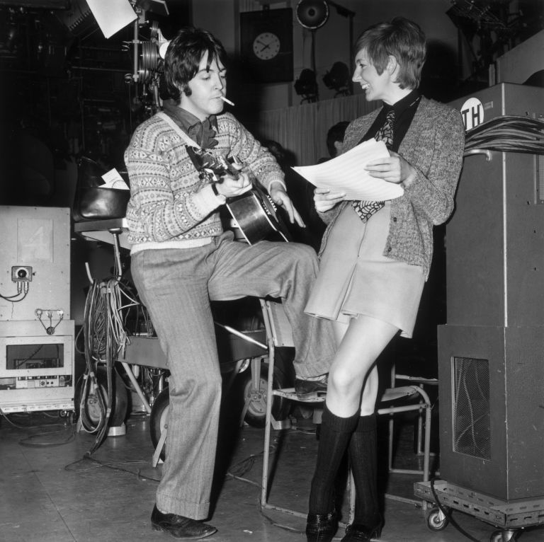 Paul McCartney And Cilla Black In The Studio 1968