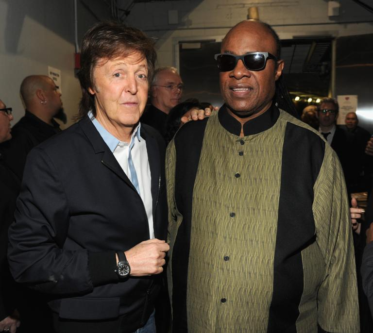 Paul McCartney And Stevie Wonder Attend The 56th GRAMMY Awards At Staples Center On January 26