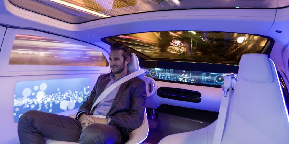 The Mercedes-Benz F015 Luxury in Motion self-driving car  sc 1 st  Digital Spy & Ford CEO Mark Fields says fully autonomous cars could be just four ... markmcfarlin.com