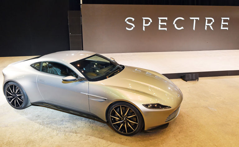 aston martin james bond spectre. the new aston martin car is unveiled at james bond u002639spectreu0026 spectre