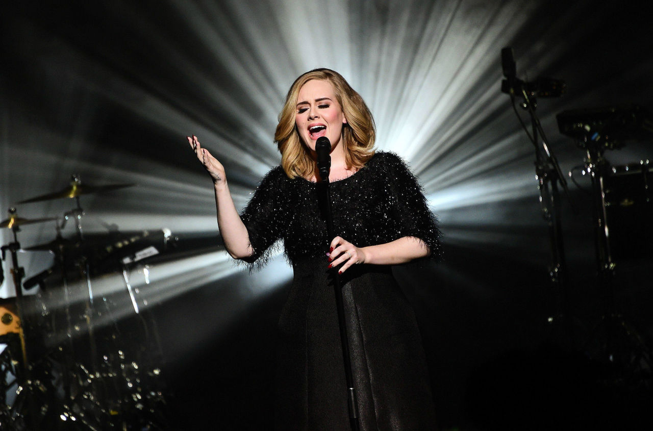 Adele performs her new single 'Hello' at the NRJ Awards, November 2015