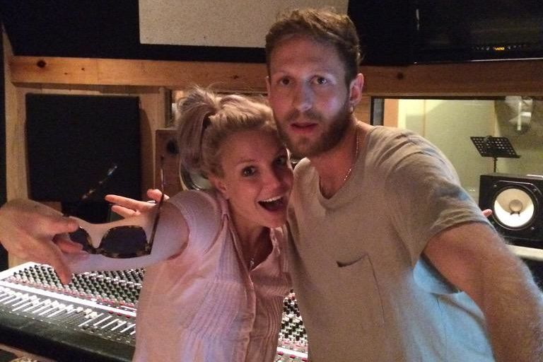 Britney records tracks for ninth album.