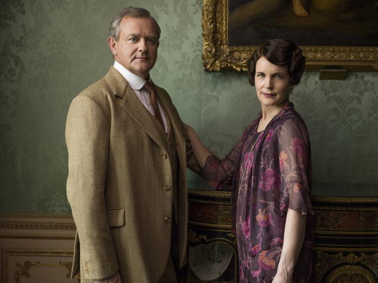 Hugh Bonneville as Robert and Elizabeth McGovern as Cora in Downton Abbey S06E08