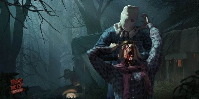 here s jason voorhees wields the axe in friday the 13th s
