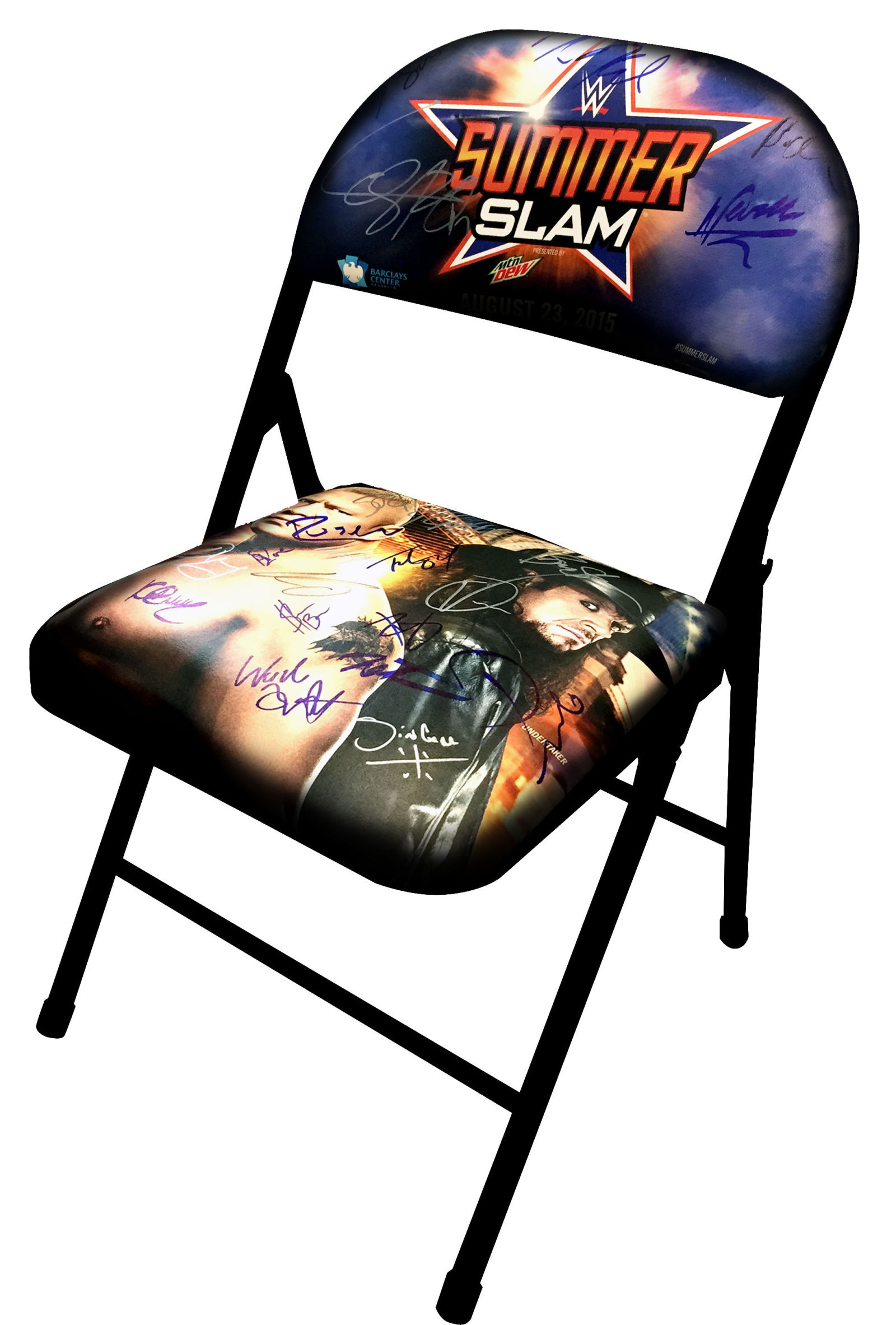 Win A Money Can T Buy Summerslam 2015 Chair Signed By 21