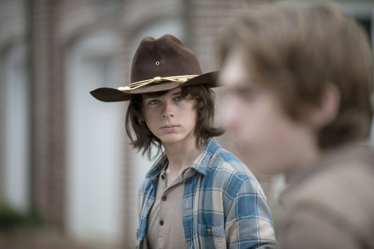 Dating carl grimes would include