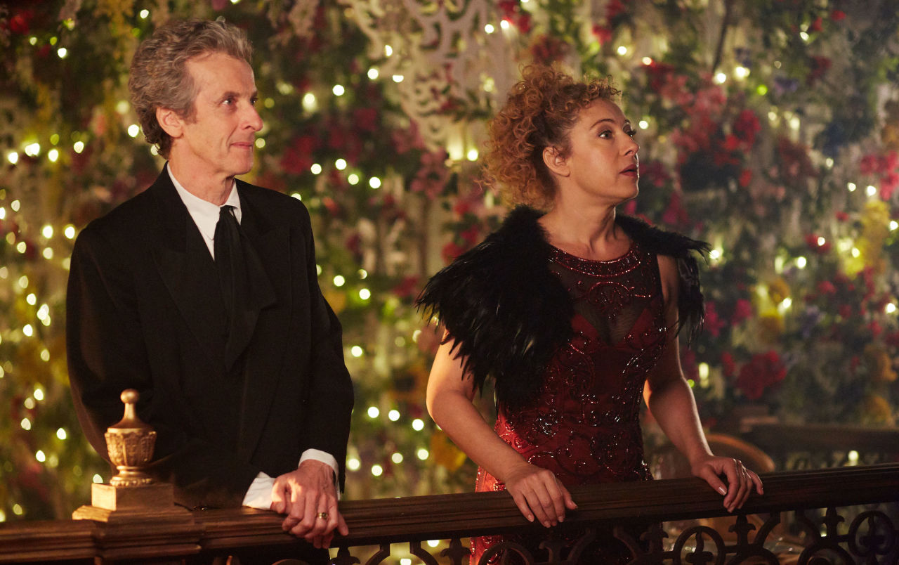 Peter Capaldi and Alex Kingston in Doctor Who 2015 Christmas special 'The Husbands of River Song'