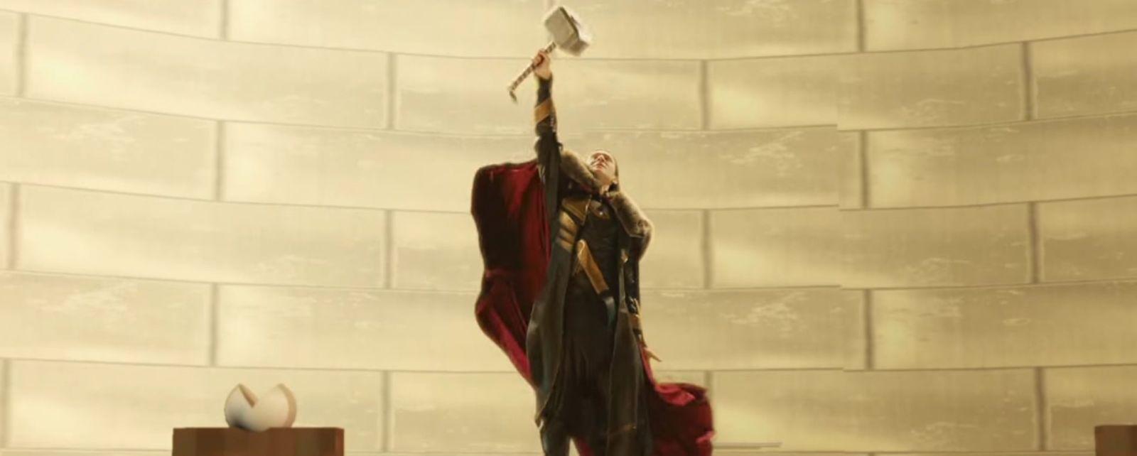 watch tom hiddleston s loki wield mjolnir in this amazing unseen