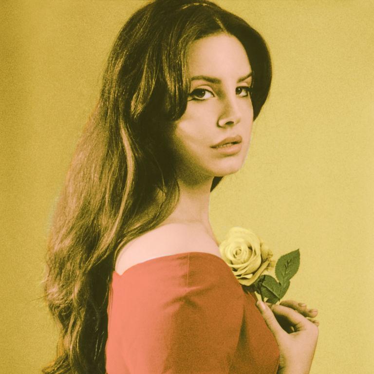 Lana Del Rey Holding Rose