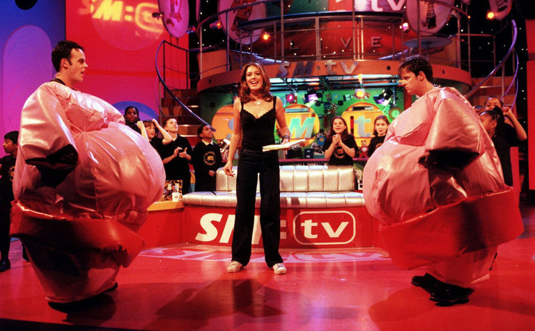 Ant McPartlin, Cat Deeley and Declan Donnelly on SM:TV live, 2000