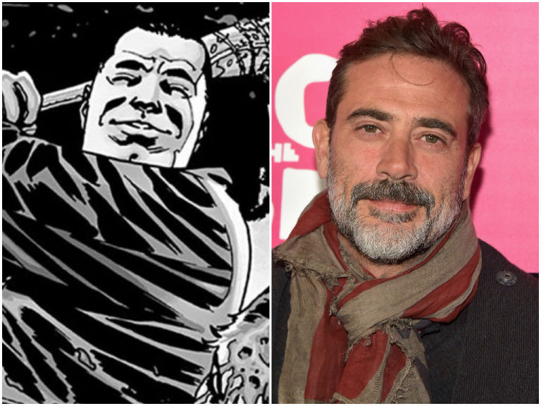 Negan In The Walking Dead Comic Jeffrey Dean Morgan