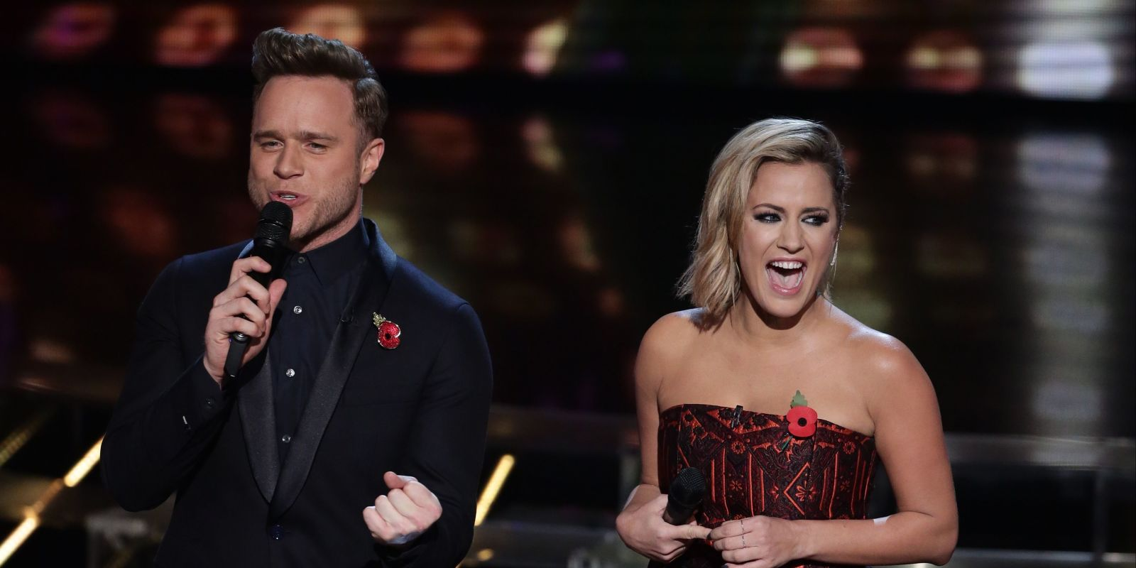 Olly murs black t shirt x factor - Former X Factor Presenter Caroline Flack Opens Up About Being Axed By Simon Cowell