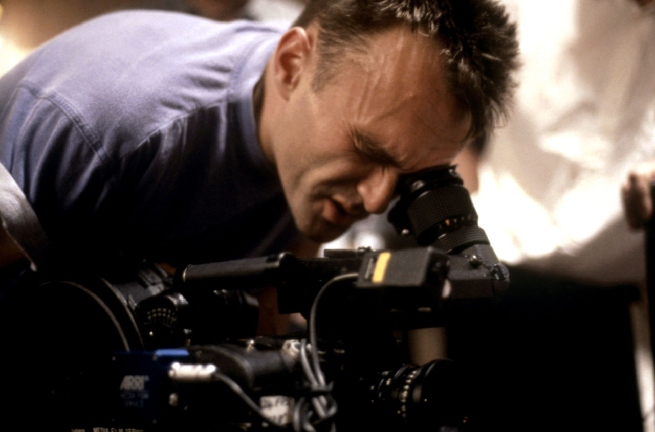 Danny Boyle filming Trainspotting in 1996