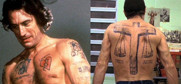 12 baddest ass tattoos in movies from george clooneys neck to tom 9 robert de niro cape fear maxwellsz