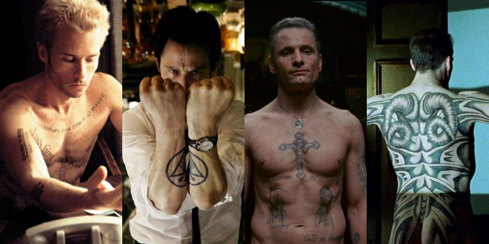 12 Baddest Ass Tattoos In Movies From George Clooneys Neck To Tom