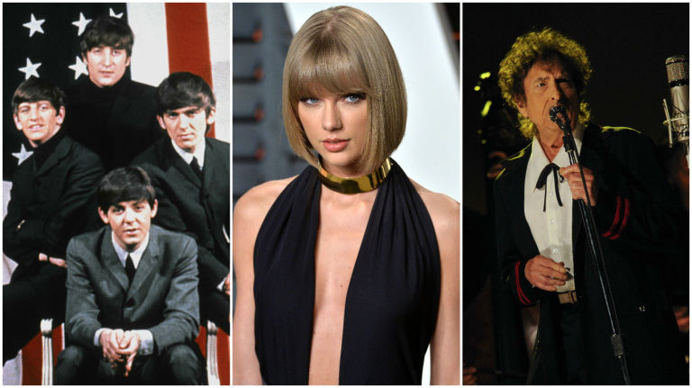 The Beatles Taylor Swift Bob Dylan