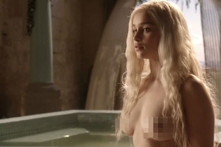 Emilia clarke sex scene game of thrones