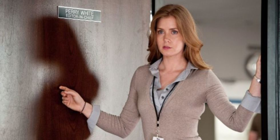 Amy adams admits shes got some issues with playing lois lane in the amy adams as lois lane in man of steel thecheapjerseys Image collections