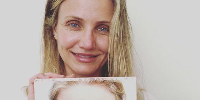 Cameron Diaz Posts A Stunning Makeup Free Photo And Talks Up - Cameron diaz make