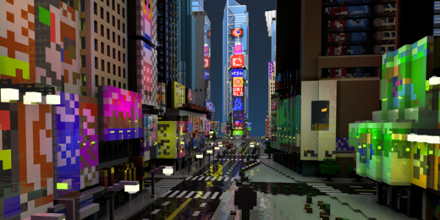 Minecraft Goes To Times Square In The Games Latest Musthave Map - Maps fur minecraft wii u