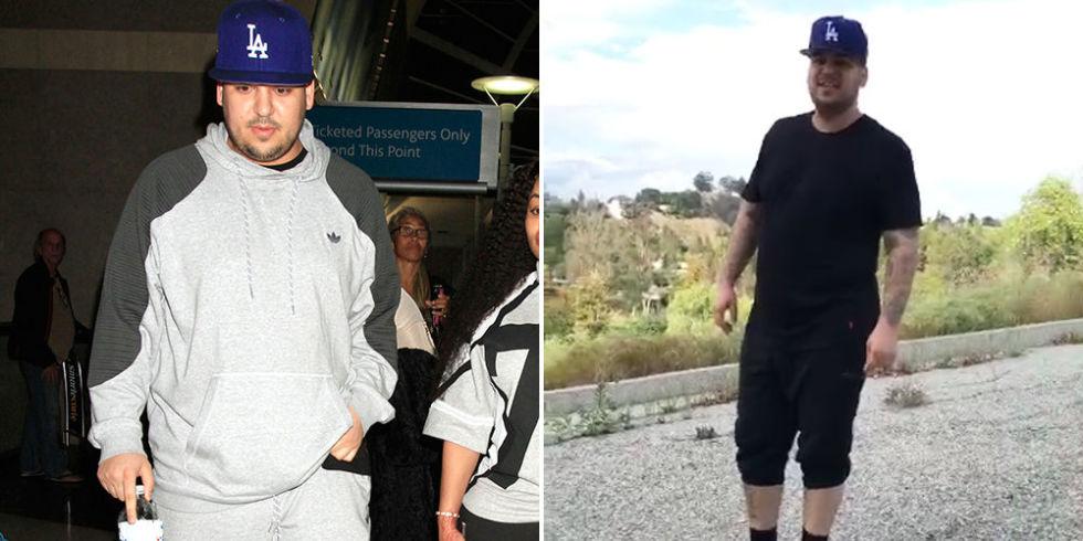 rob kardashian weight loss images