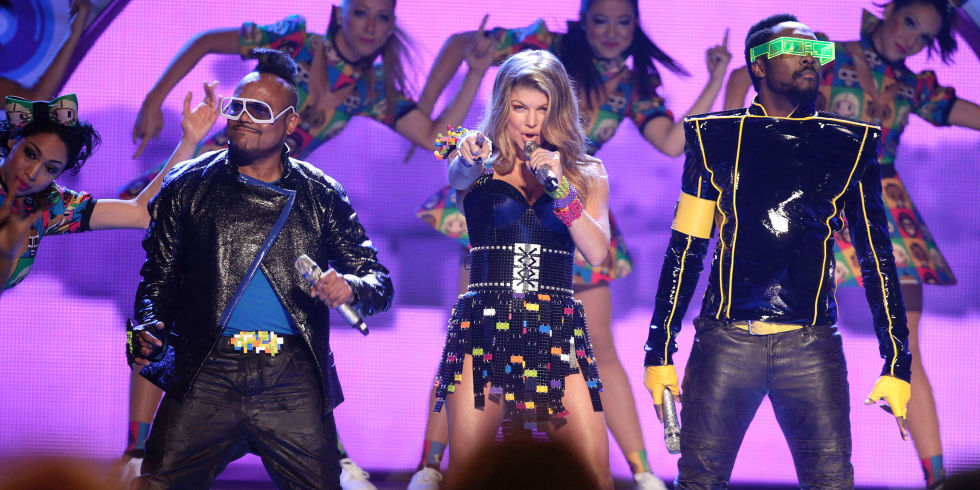 Black Eyed Peas Perfoming Onstage During Nickelodeons Th Annual Kids Choice Awards