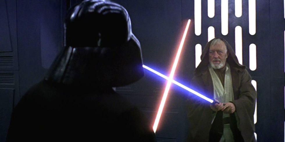 star wars fans give darth vader and obi wan s lightsaber battle a