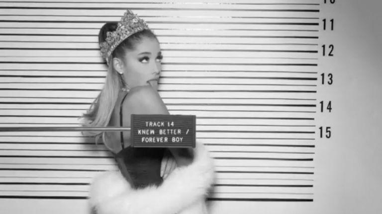 Ariana Grande track listing video