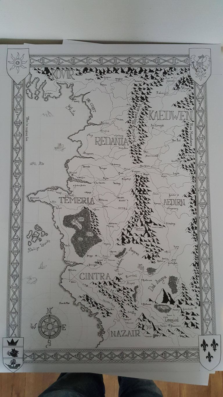 Heres what The Witcher 3 map would look like with a Tolkien makeover