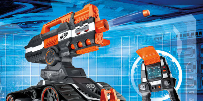 is this driveable nerf gun robot the coolest