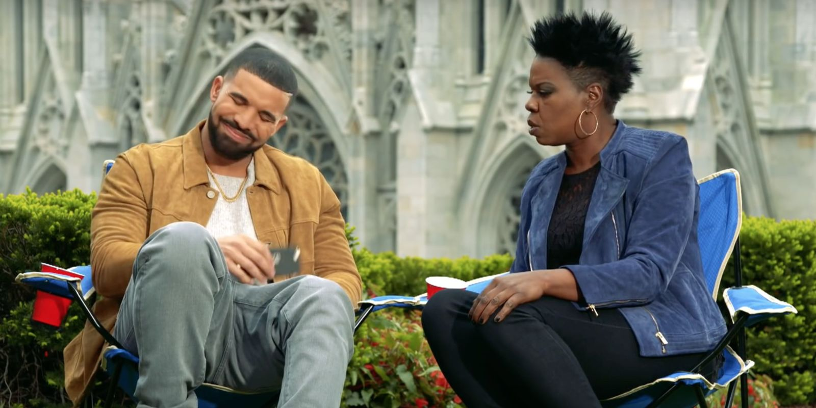 """""""Drake gonna wax me!"""" Leslie Jones has some VERY kinky fantasies in this new Saturday Night Live promo"""