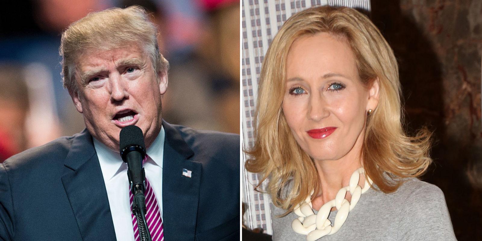 JK Rowling condemns Trump's Charlottesville speech
