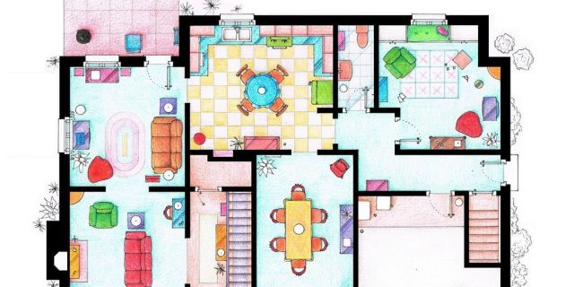 tv floorplans - how the apartments in your favourite shows are