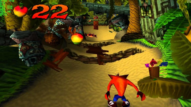 all the crash bandicoot games from the original to mind over mutant