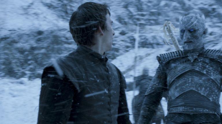 Isaac Hempstead Wright as Bran Stark and Vladimir Furdik as Night King