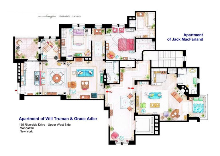 TV Floor Plans: Will U0026 Grace Part 98