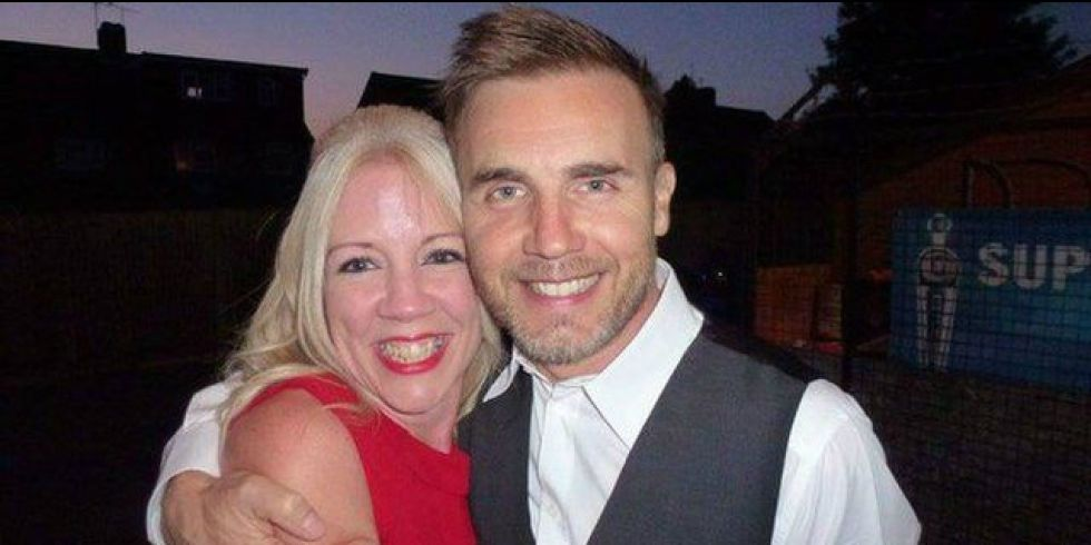 Gary Barlow With Fan At Her 40th Birthday Party