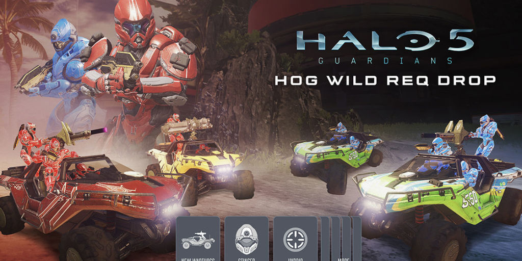 Halo 5 will release its Hog Wild update tomorrow
