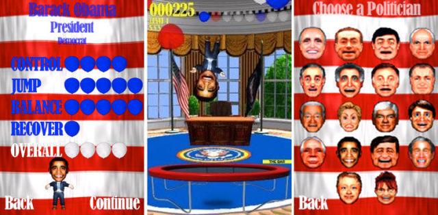 Obama trampoline app