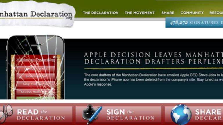 Manhattan Declaration app