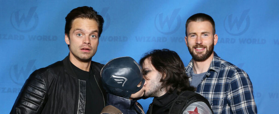 Captain america chris evans and sebastian stan have the cutest captain america chris evans and sebastian stan have the cutest response to meeting these stucky cosplayers m4hsunfo