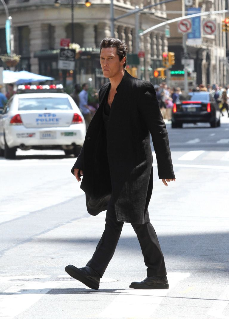 Matthew McConaughey on the set of The Dark Tower, New York, June 30 2016