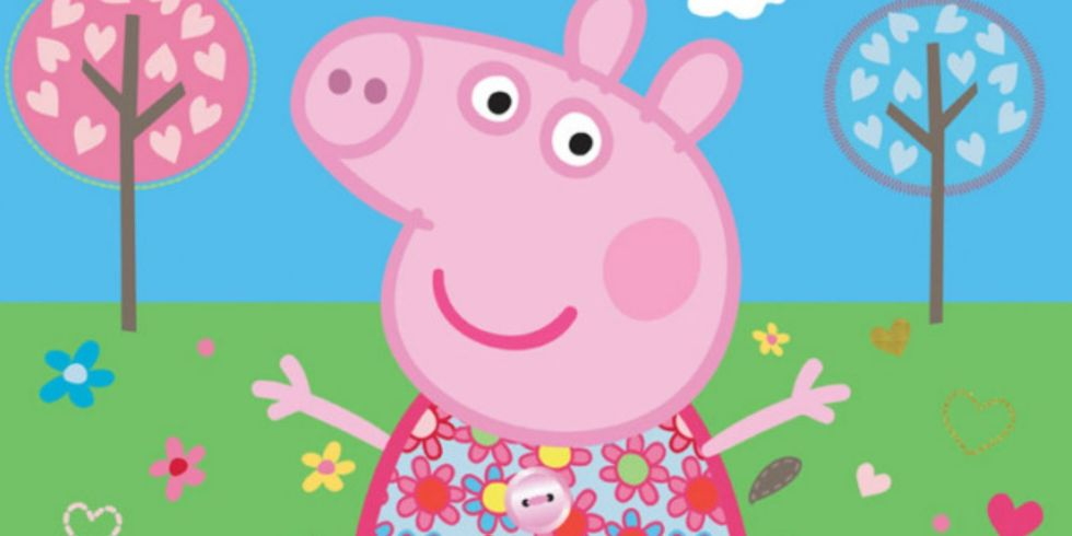 first it was the simpsons now front facing peppa pig is terrifying