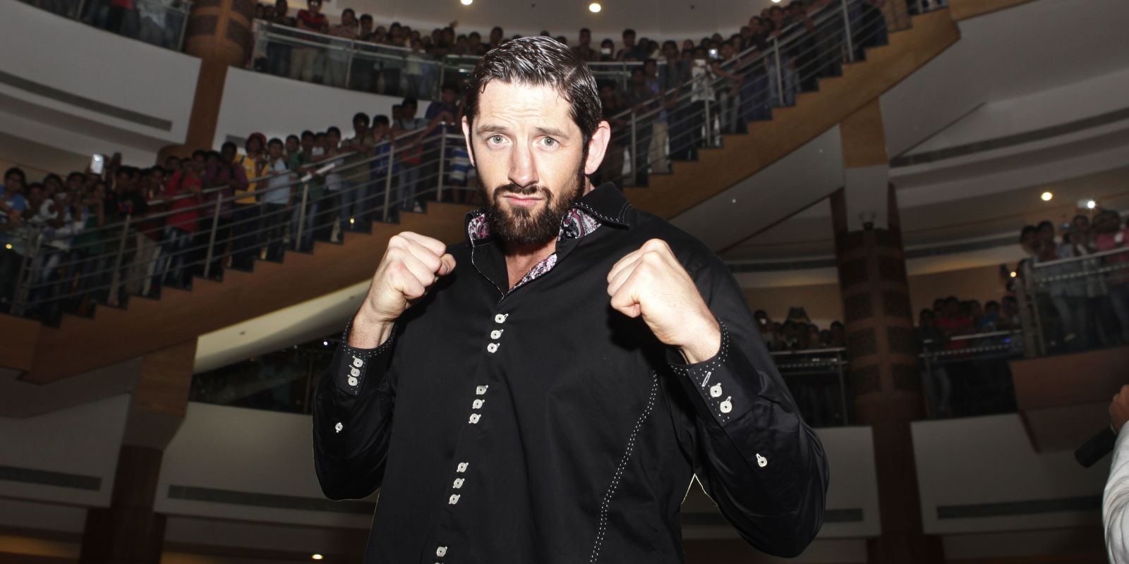 Alexa bliss gif hunt - Wwe Star Wade Barrett Oses With His Fans During An Promotional Event At Inorbit Mall
