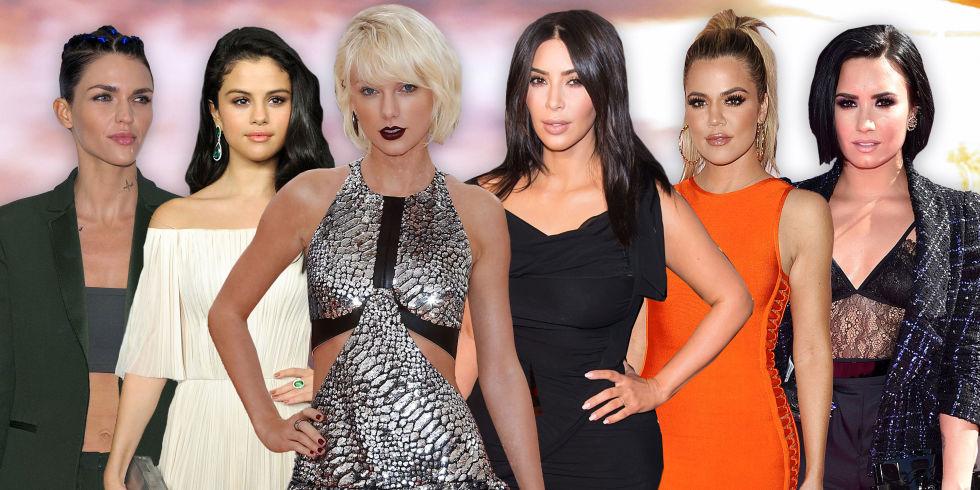 Taylor Swift Kim Kardashian Selena Gomez Ruby Rose Khloe Kardashian Demi