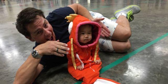 sc 1 st  Digital Spy & John Barrowman caught a baby dressed as a Magikarp