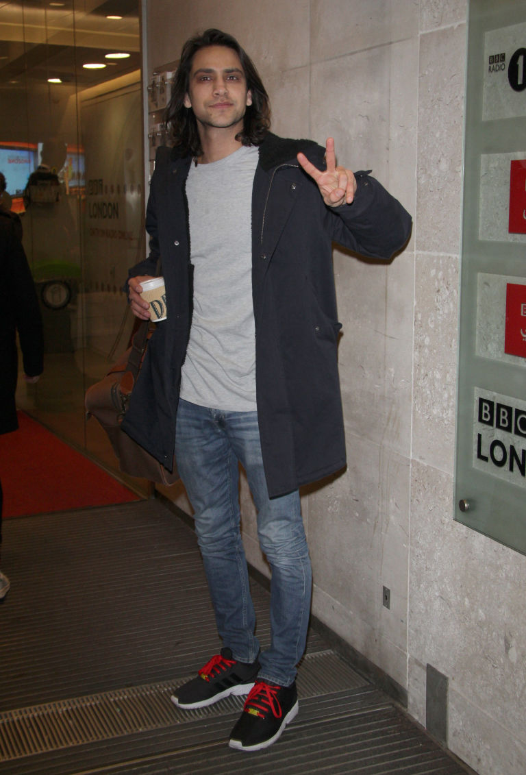 LONDON, ENGLAND - JANUARY 22: Luke Pasqualino sighting at the BBC on January 22