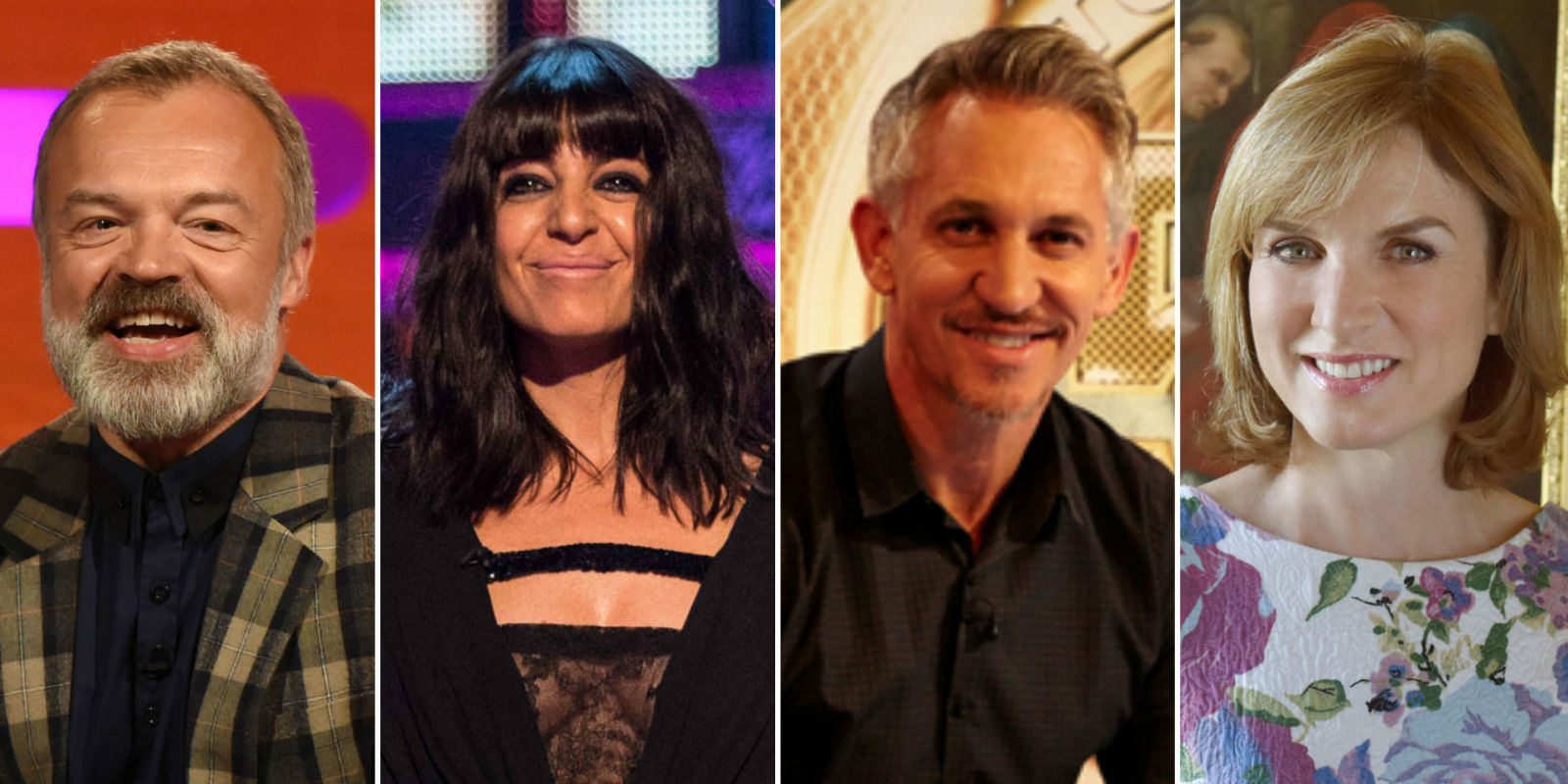 Graham Norton, Claudia Winkleman on Strictly, Gary Lineker on Match of the Day,