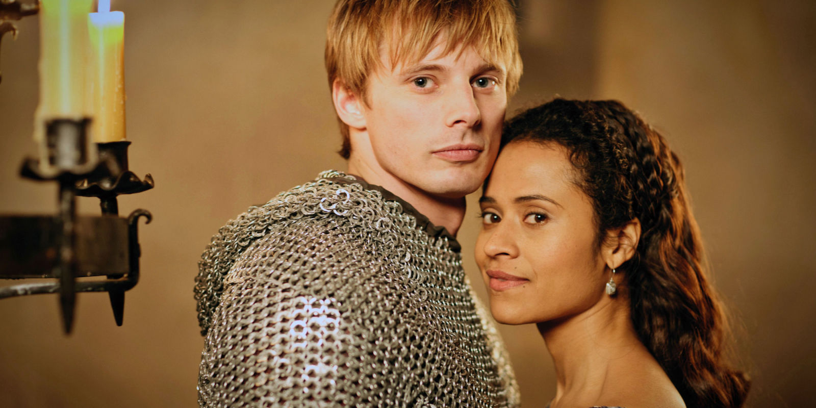 Bradley James Girlfriend Angel Coulby Merlin star Ang...